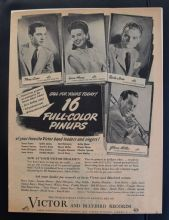Victor and Bluebird Records (1940s) - Perry Como | Vintage Trade Ad